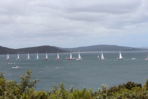 Clipper Race Fleet off M.B.