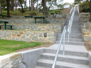 New stairs and refurbished facilities at Ellen Cove amphitheatre.