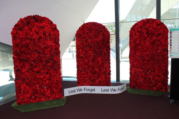 Lest We Forget  Installation at AEC. Photo: B Madden